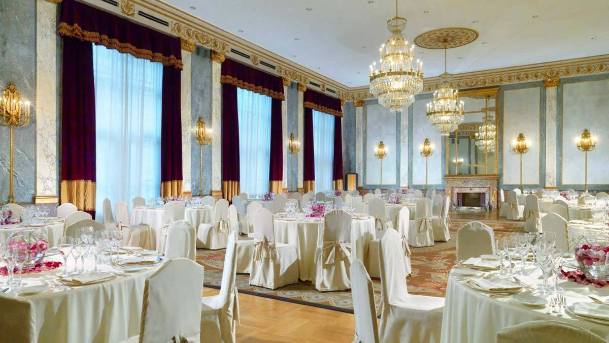 The Westin Excelsior Rome Meeting Ludovisi banquet setup - Luxury Wedding Gallery