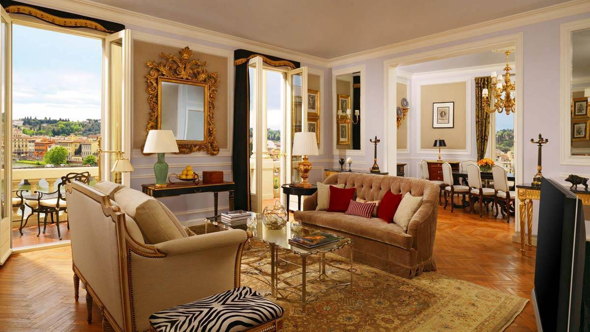 The st regis florence presidential suite living  room - Luxury Wedding Gallery