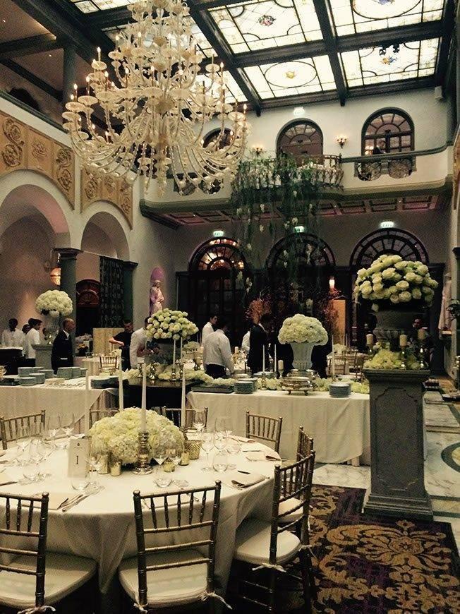 Winter Garden setting up time 2 - Luxury Wedding Gallery