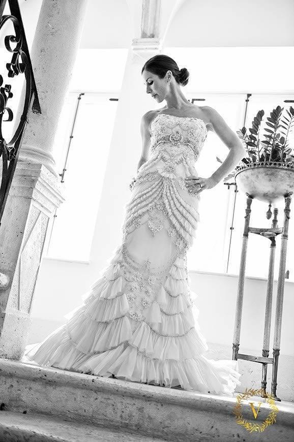 beautiful Yasmine wearing luxury designer wedding dress - Luxury Wedding Gallery