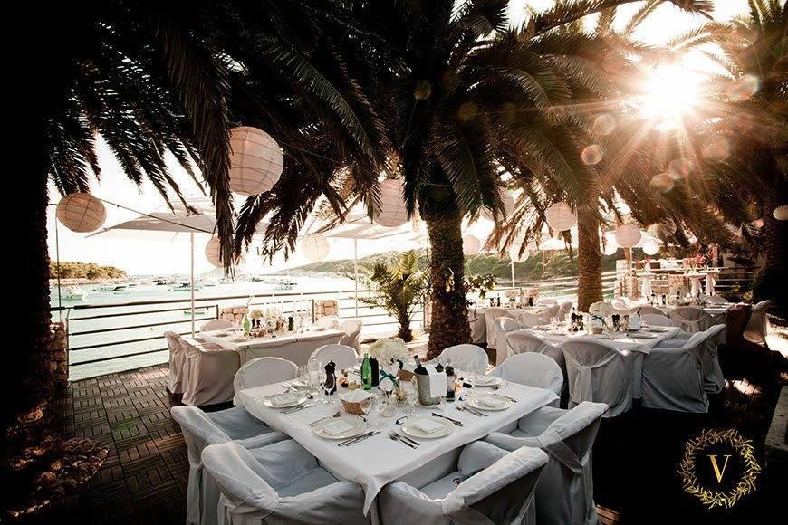breathtaking atmosphere in a luxury beach venue in Hvar  - Luxury Wedding Gallery