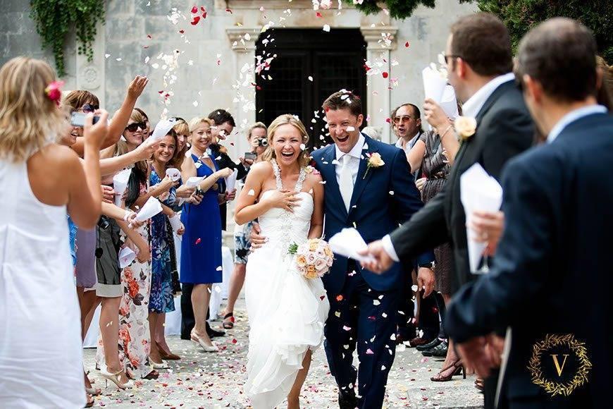 grand-exit-covered-in-petals-on-a-destination-wedding-in-Hvar