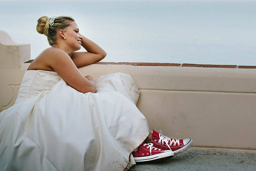 red all star bride shoes italian style - Luxury Wedding Gallery