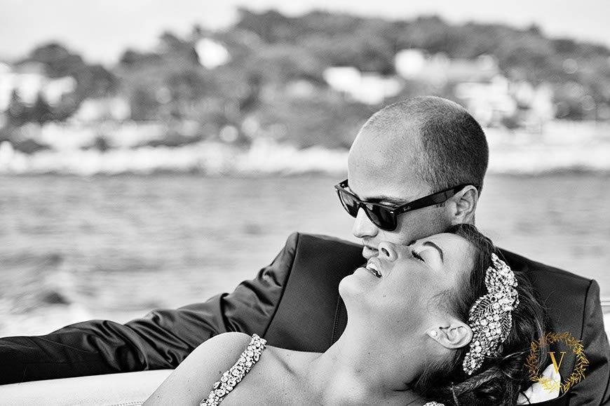 speedboat transfer to the reception venue in Hvar - Luxury Wedding Gallery