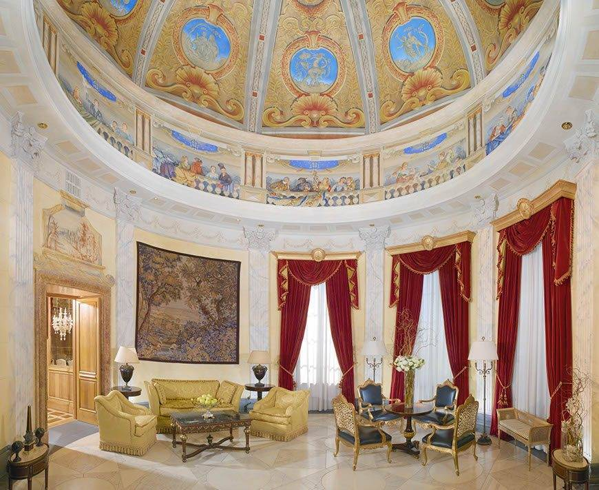 wes70gr 106224 Villa La Cupola Living Room - Luxury Wedding Gallery