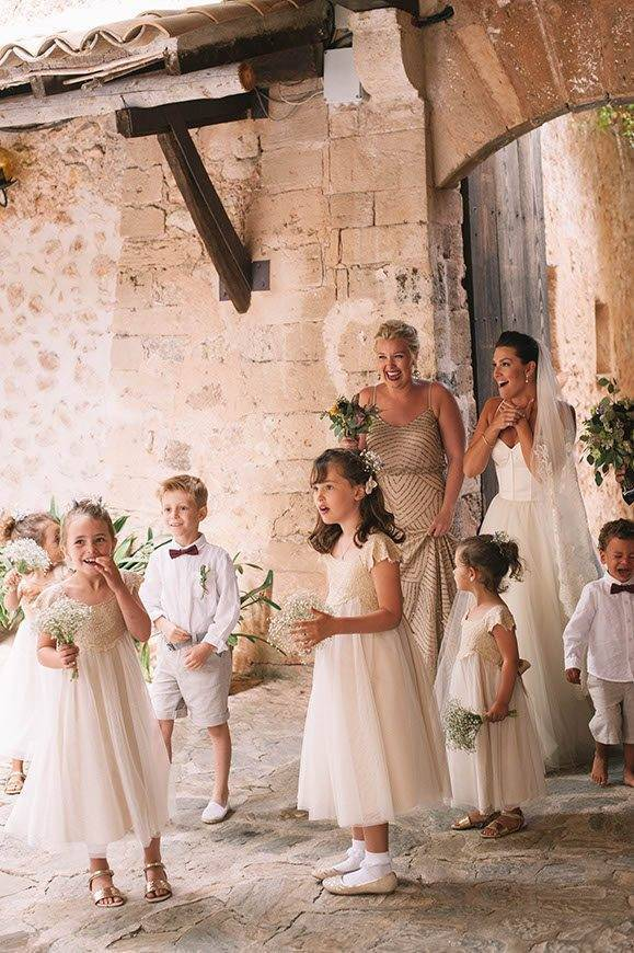 Bride admiring the decor by Alago Events - Luxury Wedding Gallery