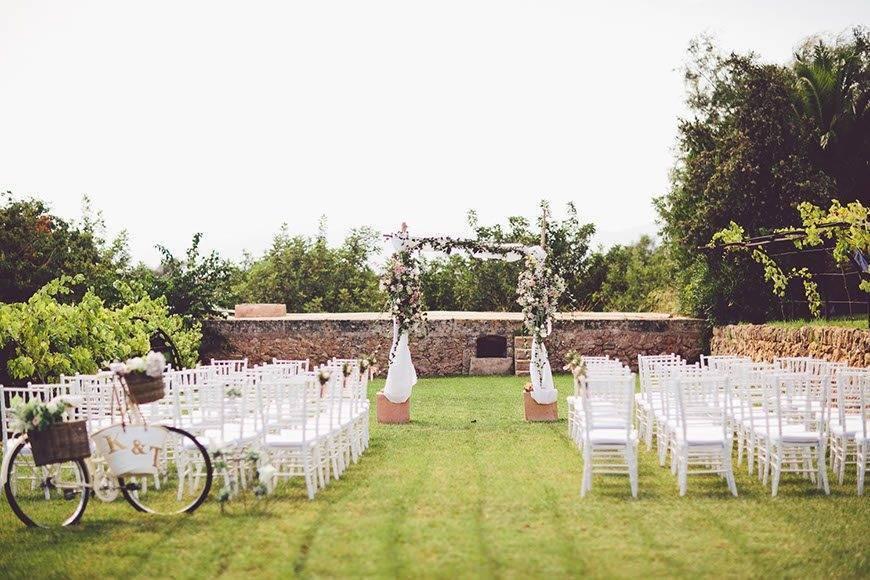 Garden Ceremony Set Up by Alago Events - Luxury Wedding Gallery