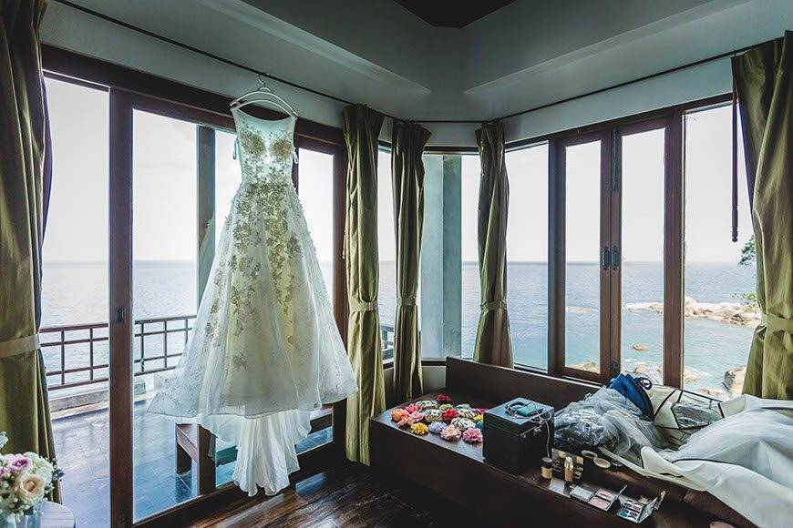 Groom Brides room Kala Samui - Luxury Wedding Gallery