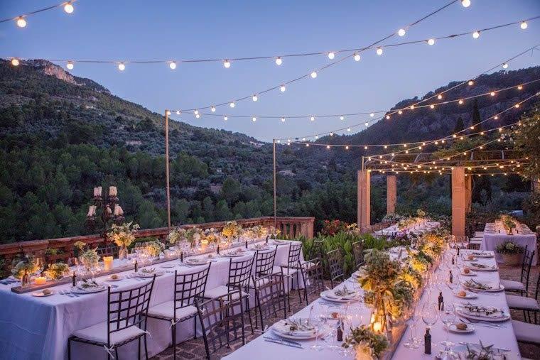 Mountain view villa wedding banquet by Alago Events - Luxury Wedding Gallery