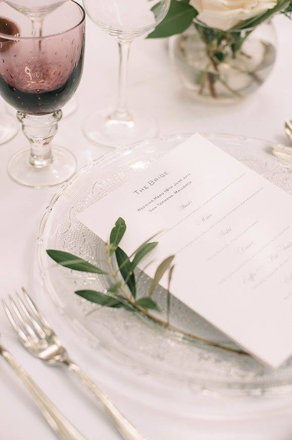 Olive place setting by Alago Events - Luxury Wedding Gallery