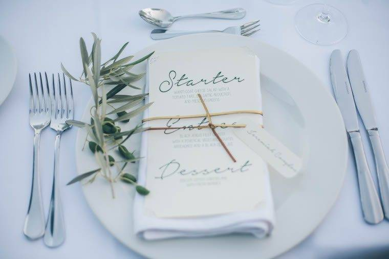 Olive table setting by Alago Events - Luxury Wedding Gallery