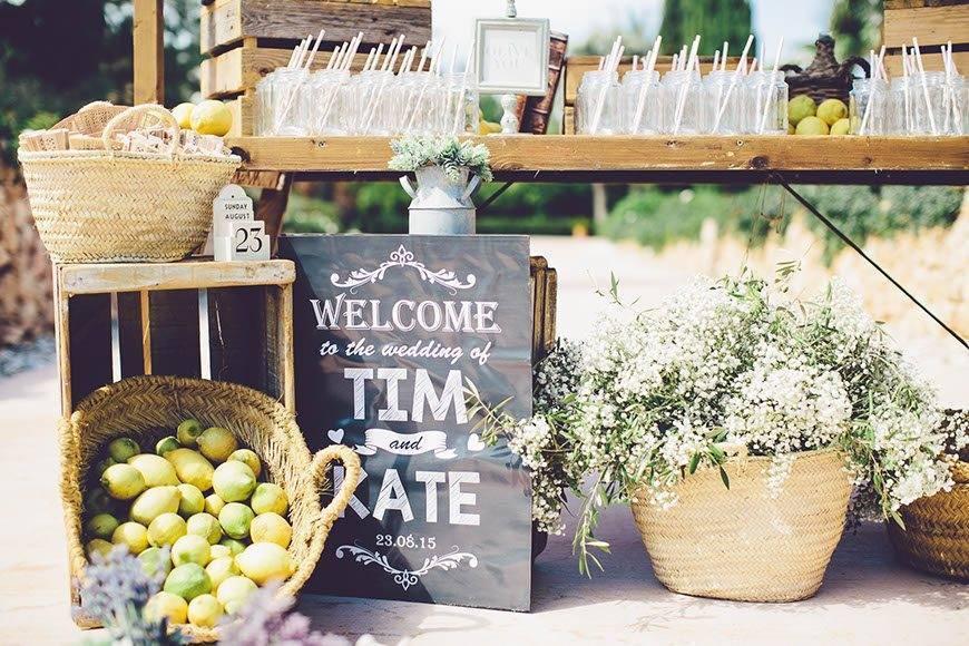 Pre Ceremony Lemonade Stand By Alago Events - Luxury Wedding Gallery