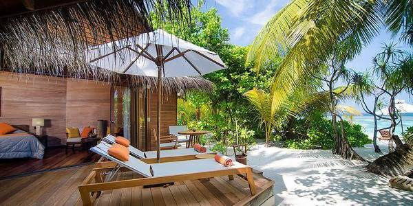 The Beach Villas open onto a private deck and lead directly to the beach
