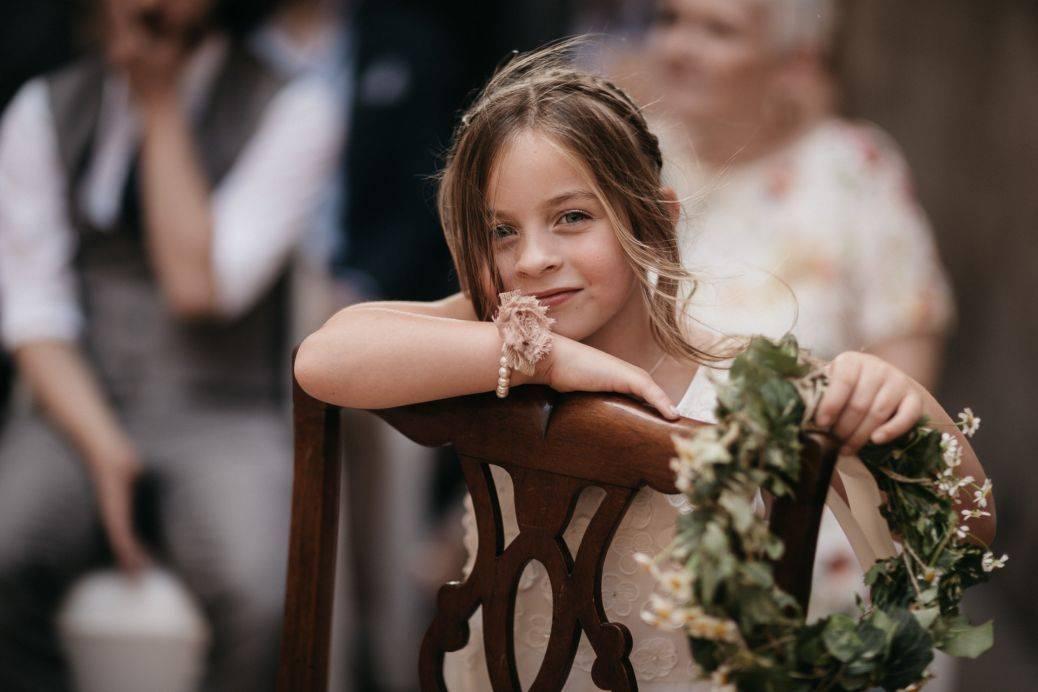 Happy little bridesmaid!