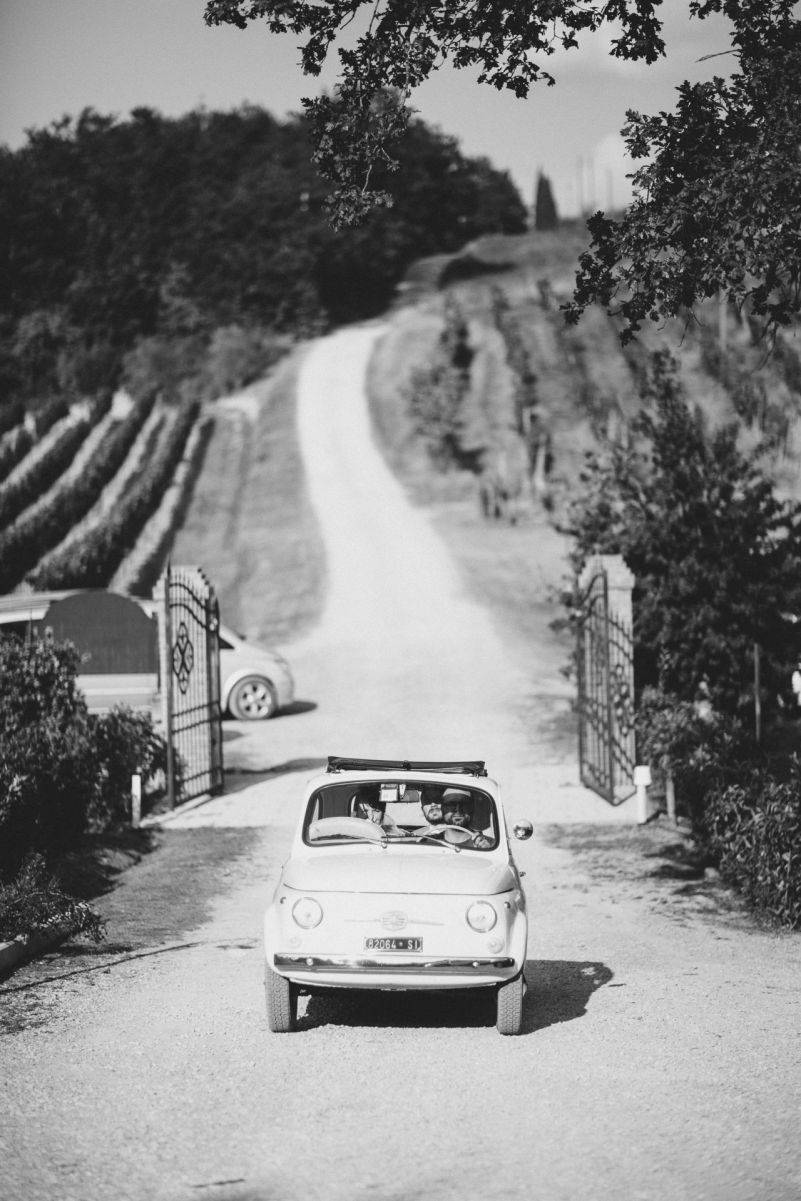 Taking a Tuscan tour in a fun Fiat 500