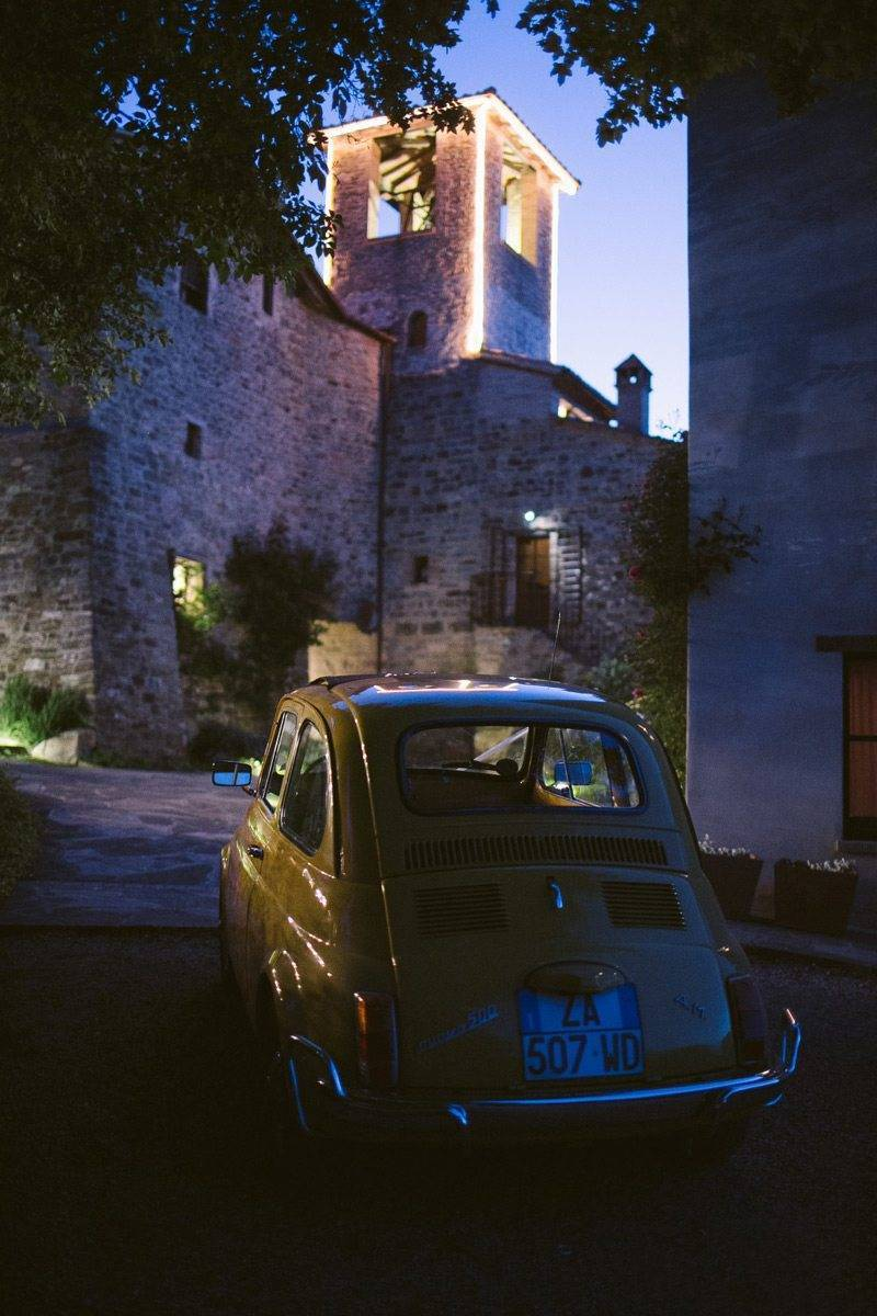 Brides car - The Abbazia San Faustino – Gallery