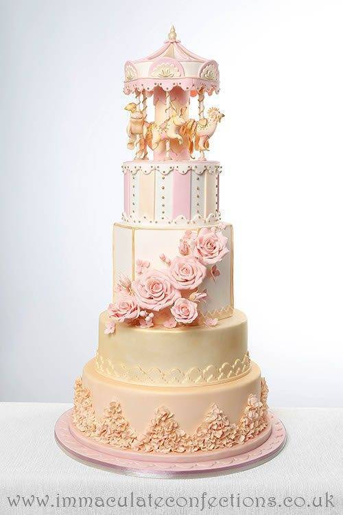 Carousel Wedding Cake 2 - Immaculate Confections - Gallery