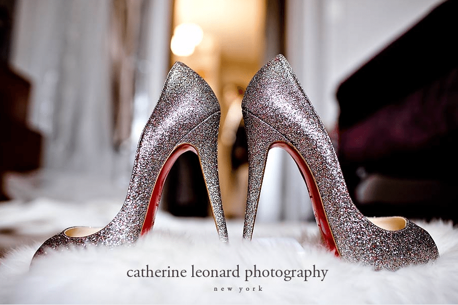 Slip on some sparkles. Beautiful Louboutins covered in glitter.