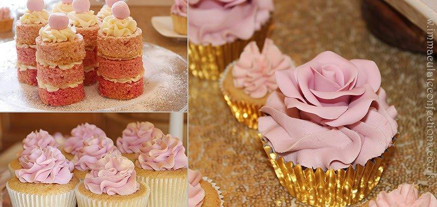 Dessert Table Blush Pink and Gold Details - Immaculate Confections - Gallery