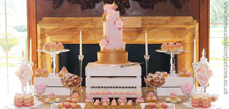 Dessert Table Blush Pink and Gold - Immaculate Confections - Gallery
