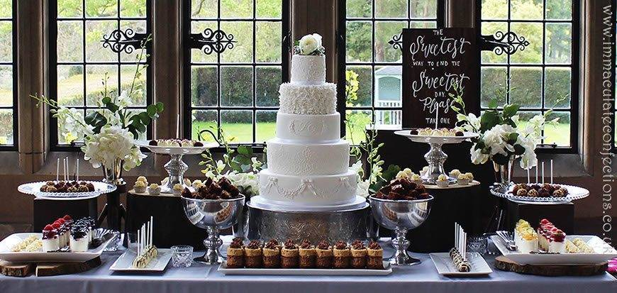 Dessert Table Contemporary Grey and White - Immaculate Confections - Gallery