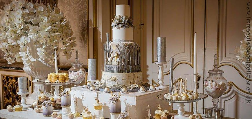Dessert Table Winter Woodland Elegance - Immaculate Confections - Gallery