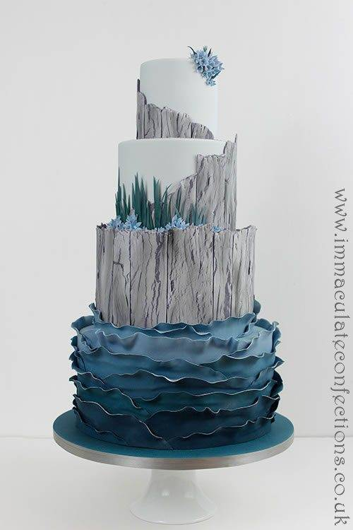 Driftwood Seaside Wedding Cake 1 - Immaculate Confections - Gallery
