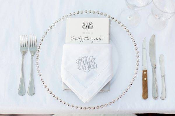 A minimal, yet effective place setting. Photo: Jonanthan Young