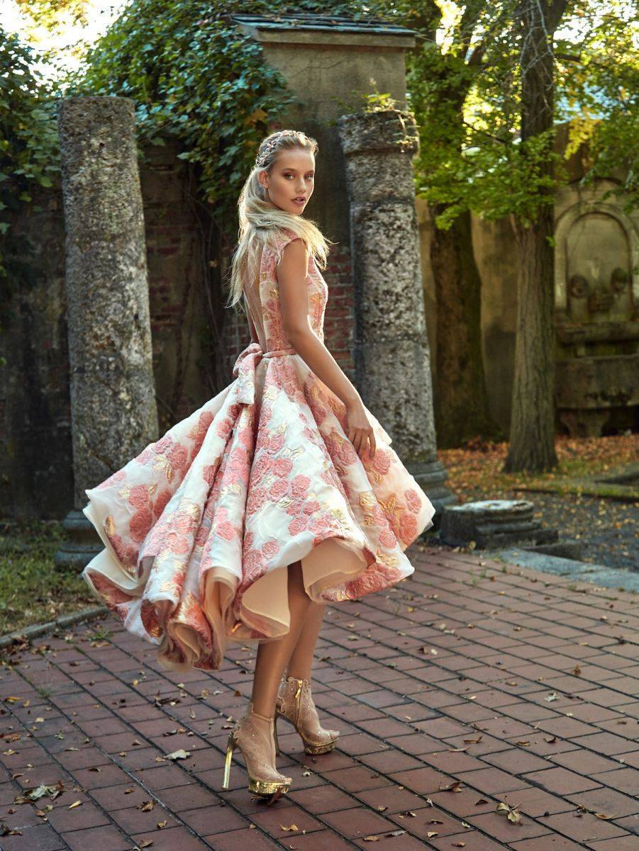 Maddie - Something a bit different - cute ruffled skirt and bold embellishment make this a real head turner
