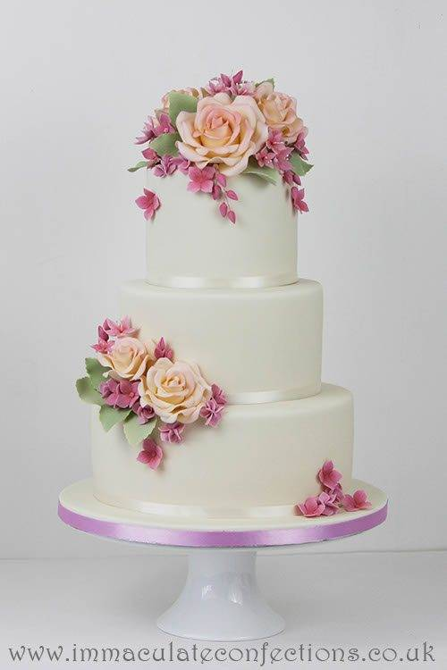 Pastel Floral Jeans Wedding Cake 3 - Immaculate Confections - Gallery