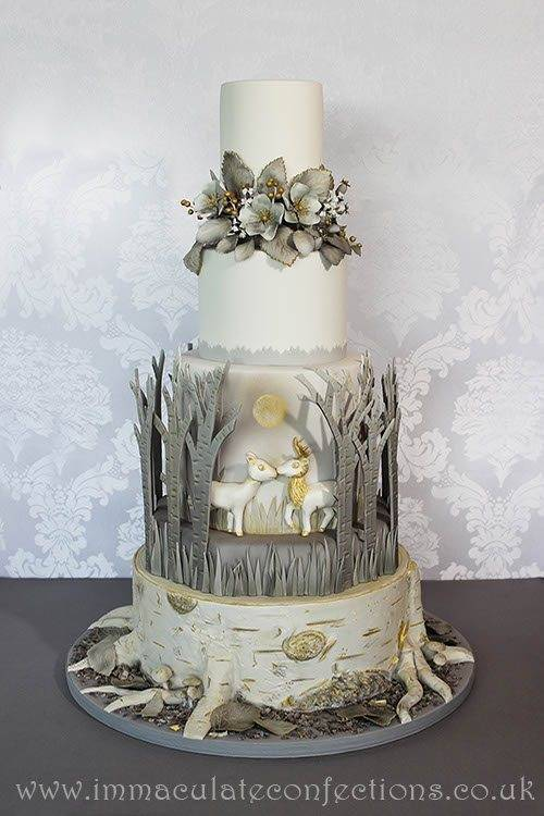Winter Woodland Wedding Cake 7 - Immaculate Confections - Gallery