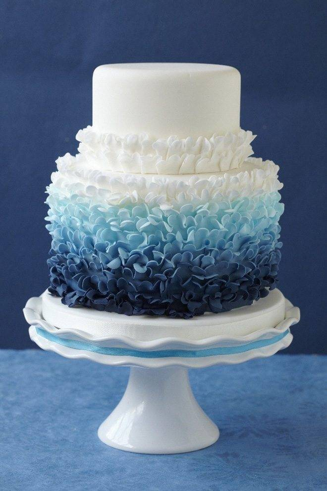 Ombre ruffles are simply divine. Photo: Jeremy at Hartwell Photography. Cake: Wow Factor Cakes