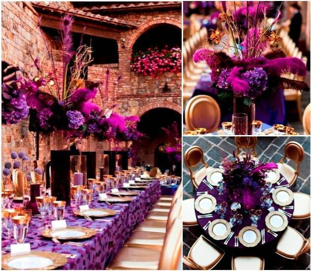Feathers, flowers and gold - pure opulence