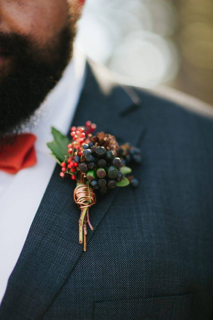 ...and buttonholes to match. Photo: Rebekah J Murray