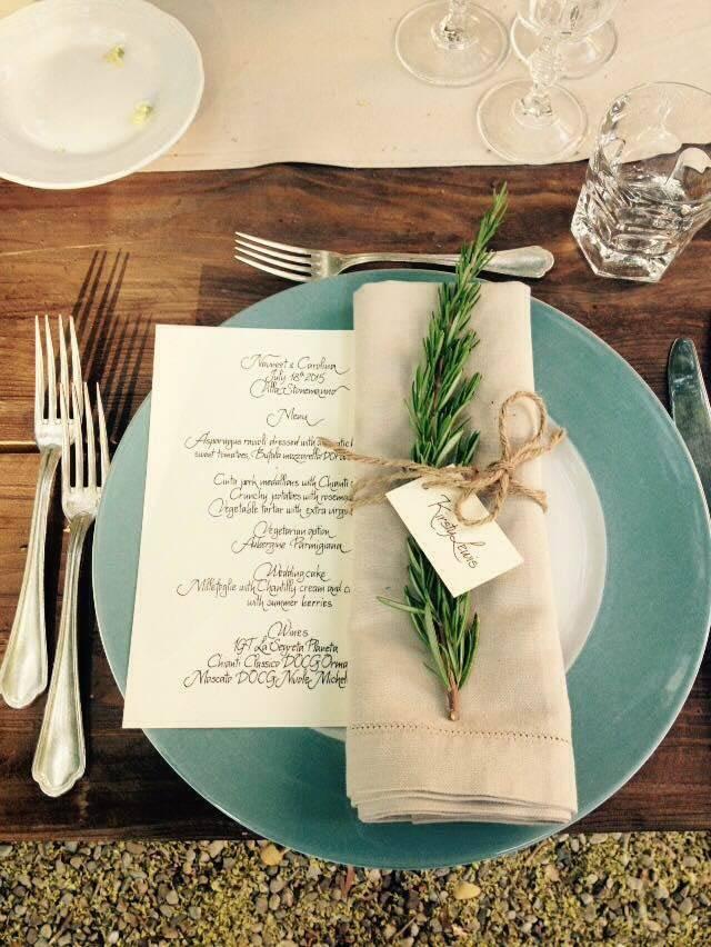 table set - Italian Weddings International - Gallery