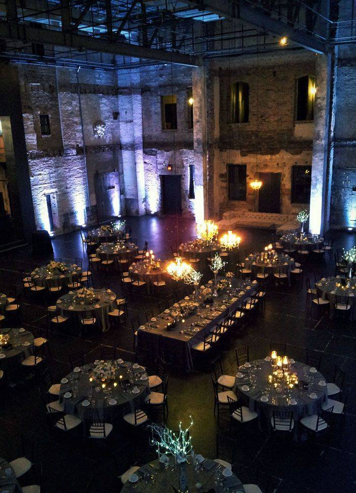 Warehouse weddings mean lots of space for guests! A really gorgeous open plan makes the day to night transition simple! Photo: ARIA