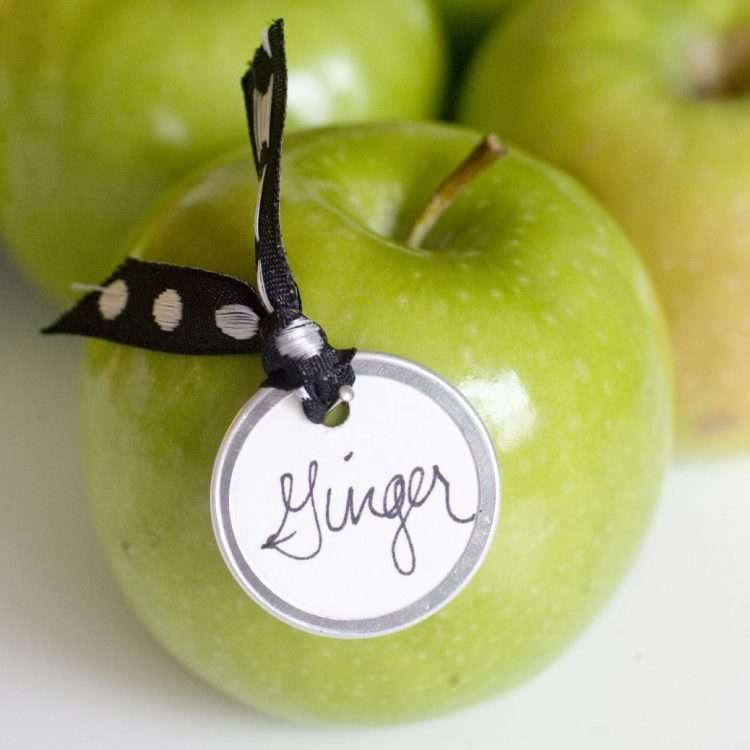 Why not use simple, but effective apples as place settings. Perfect for an outdoor wedding and a handy guest favour to snack on!