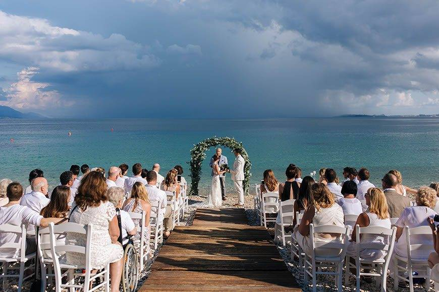 Ceremony by the beach 1 - Luxury Wedding Gallery
