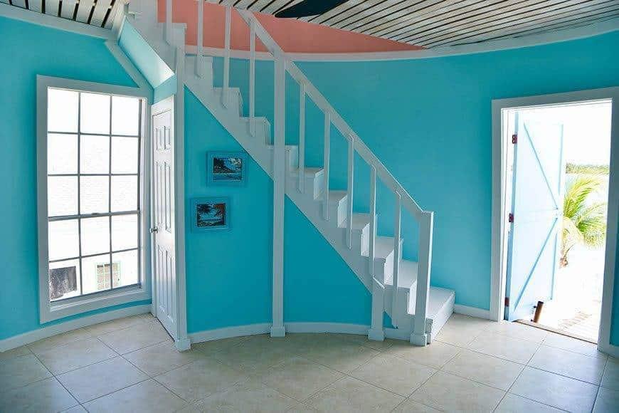 Pearl Island Bahamas lighthouse stairs - Luxury Wedding Gallery