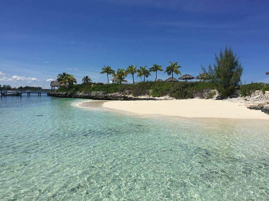 Pearl Island Bahamas private beach ocean - Luxury Wedding Gallery
