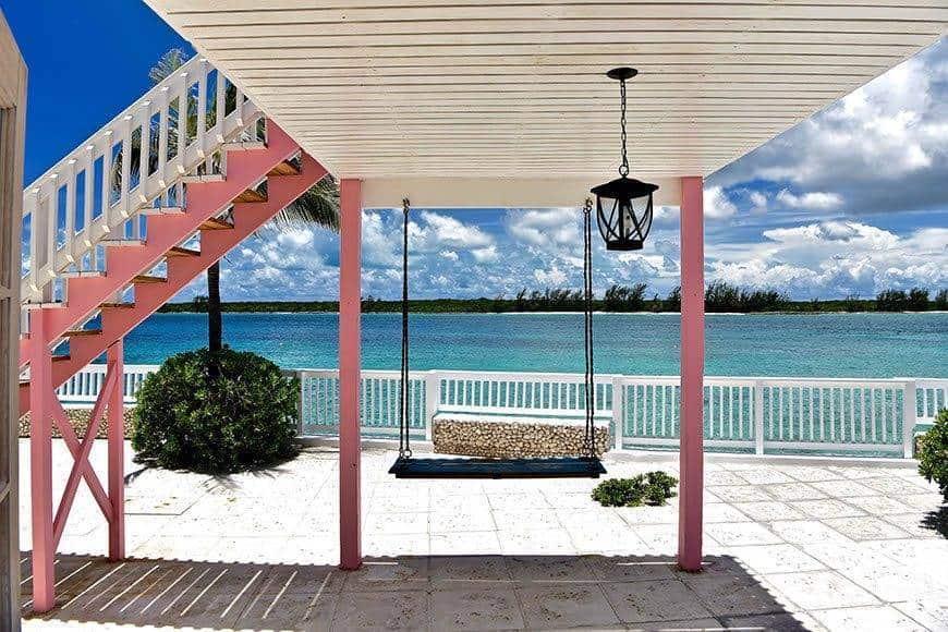 Pearl Island Bahamas swing - Luxury Wedding Gallery