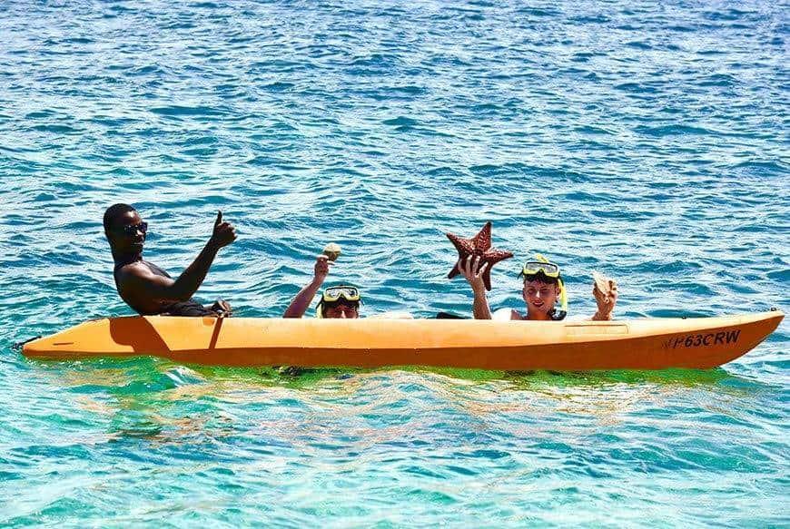 Pearl Island Bahamas water sports activity kayak family - Luxury Wedding Gallery