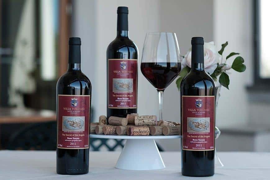 Villa Tolomei Wine Rosso Toscano - Luxury Wedding Gallery
