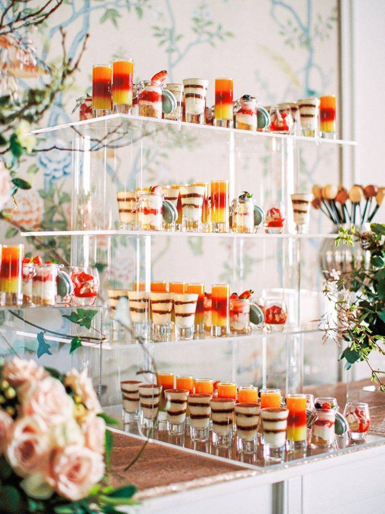 A cute dessert station by The George in Rye. Macaron pops, tiramisu, Eton mess... yum... Photo:WOOKIE Photography