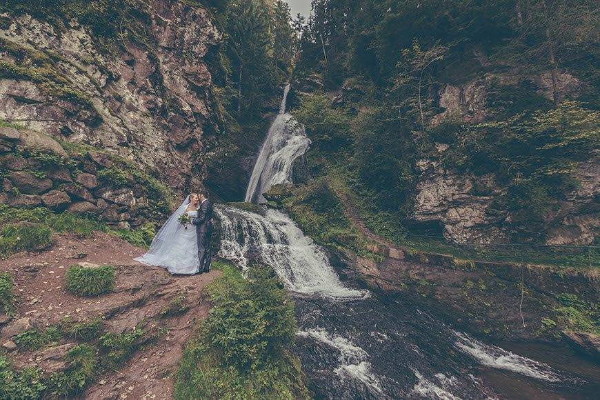 18 wedding laura andrea waterfall valdifiemme trentino italy - Luxury Wedding Gallery