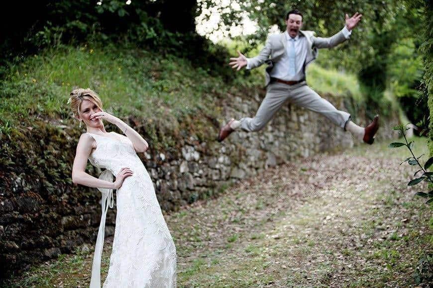 crazy couple wedding bride groom la fete - Luxury Wedding Gallery