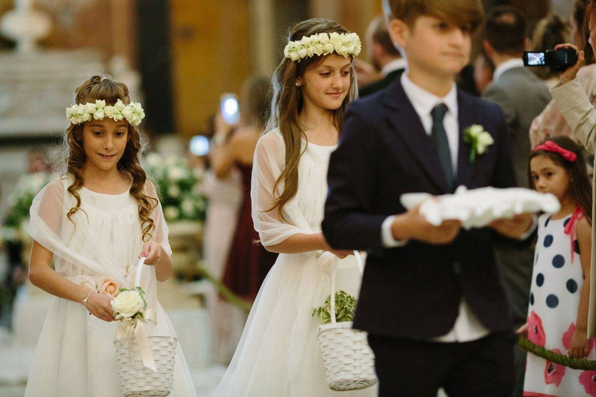floral girls and ring bearer - Luxury Wedding Gallery