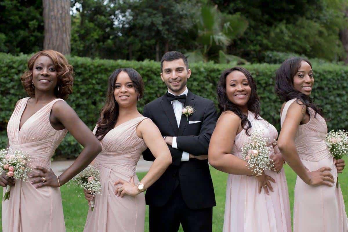 groom and bridesmaids - Luxury Wedding Gallery