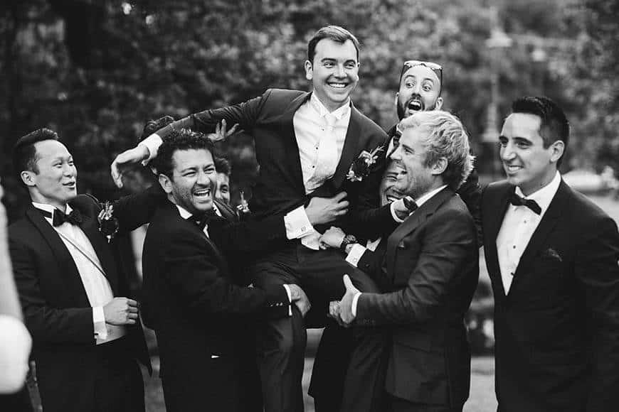 la fete groom wedding groomsmen - Luxury Wedding Gallery