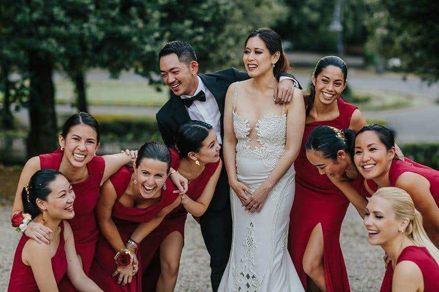 la fete wedding bride bridesmaids brides gay - Luxury Wedding Gallery